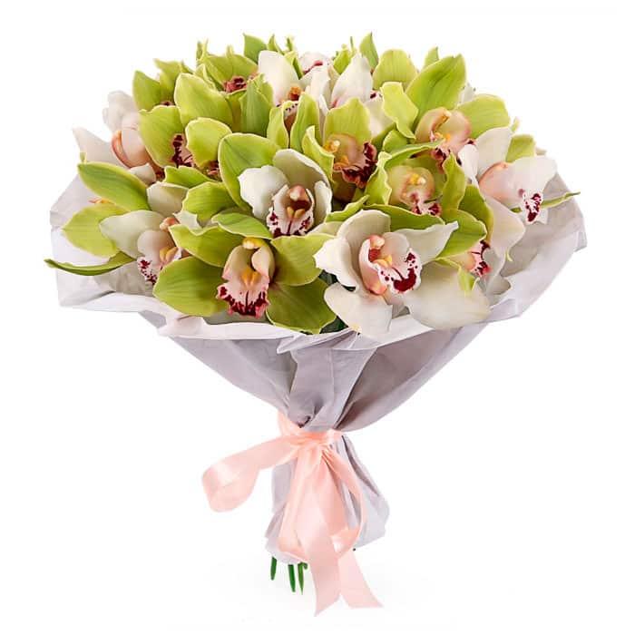 Цветов москва, орхидеи белые букет доставка москва